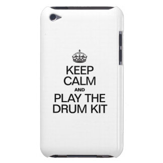 KEEP CALM AND PLAY THE DRUM KIT iPod Case-Mate CASES