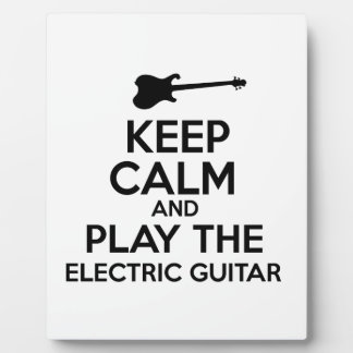 Keep Calm And Play The Electric Guitar Photo Plaques