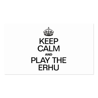 KEEP CALM AND PLAY THE ERHU Double-Sided STANDARD BUSINESS CARDS (Pack OF 100)
