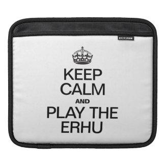 KEEP CALM AND PLAY THE ERHU iPad SLEEVES