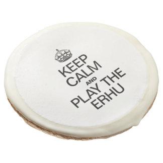 KEEP CALM AND PLAY THE ERHU SUGAR COOKIE