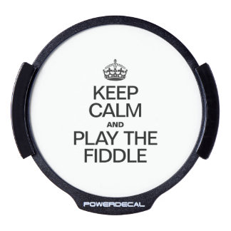 KEEP CALM AND PLAY THE FIDDLE LED WINDOW DECAL