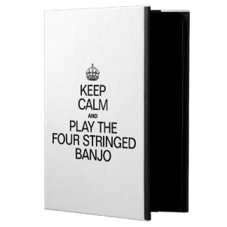 KEEP CALM AND PLAY THE FOUR STRINGED BANJO iPad AIR COVERS