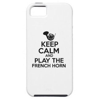 Keep Calm And Play The French Horn iPhone SE/5/5s Case