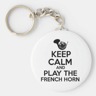 Keep Calm And Play The French Horn Keychain