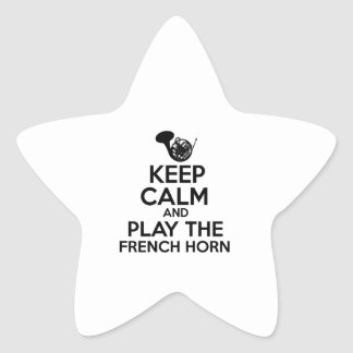 Keep Calm And Play The French Horn Star Sticker
