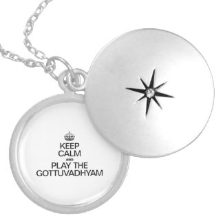 KEEP CALM AND PLAY THE GOTTUVADHYAM ROUND LOCKET NECKLACE