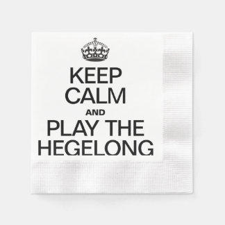 KEEP CALM AND PLAY THE HEGELONG COINED COCKTAIL NAPKIN