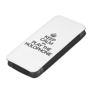 KEEP CALM AND PLAY THE HOLOPHONE iPhone 5 POUCH