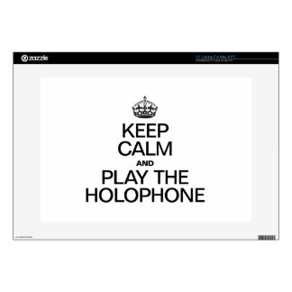 """KEEP CALM AND PLAY THE HOLOPHONE DECAL FOR 15"""" LAPTOP"""