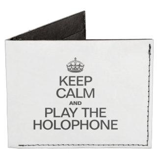 KEEP CALM AND PLAY THE HOLOPHONE BILLFOLD WALLET