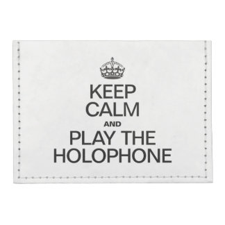 KEEP CALM AND PLAY THE HOLOPHONE TYVEK® CARD CASE WALLET