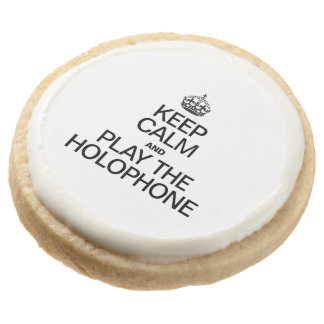 KEEP CALM AND PLAY THE HOLOPHONE ROUND PREMIUM SHORTBREAD COOKIE