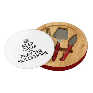 KEEP CALM AND PLAY THE HOLOPHONE ROUND CHEESE BOARD