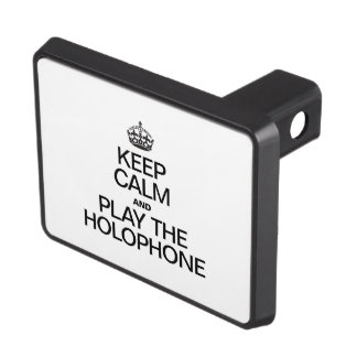 KEEP CALM AND PLAY THE HOLOPHONE TRAILER HITCH COVERS