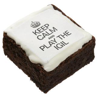 KEEP CALM AND PLAY THE  IGIL CHOCOLATE BROWNIE