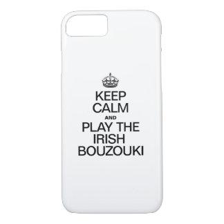 KEEP CALM AND PLAY THE IRISH BOUZOUKI iPhone 8/7 CASE
