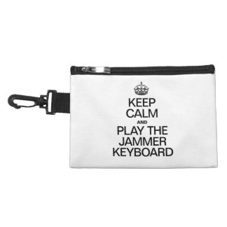 KEEP CALM AND PLAY THE JAMMER KEYBOARD ACCESSORY BAGS