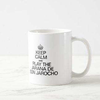 KEEP CALM AND PLAY THE JARANA DE SON JAROCHO CLASSIC WHITE COFFEE MUG
