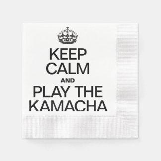 KEEP CALM AND PLAY THE KAMACHA COINED COCKTAIL NAPKIN