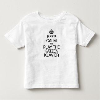 KEEP CALM AND PLAY THE KATZEN KLAVIER TSHIRT