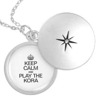 KEEP CALM AND PLAY THE KORA ROUND LOCKET NECKLACE