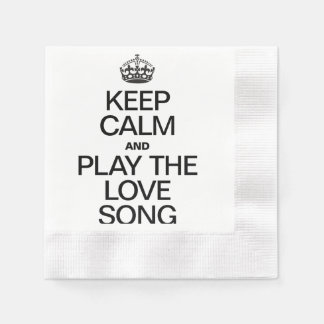 KEEP CALM AND PLAY THE LOVE SONG COINED COCKTAIL NAPKIN
