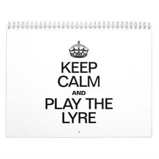 KEEP CALM AND PLAY THE LYRE WALL CALENDAR