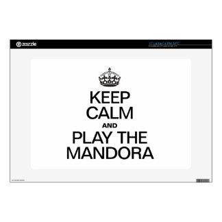 """KEEP CALM AND PLAY THE MANDORA 15"""" LAPTOP DECAL"""