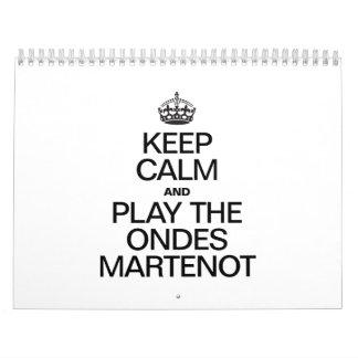 KEEP CALM AND PLAY THE MARTENOT WALL CALENDAR