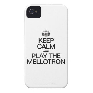 KEEP CALM AND PLAY THE MELLOTRON iPhone 4 COVER