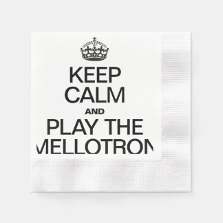 KEEP CALM AND PLAY THE MELLOTRON COINED COCKTAIL NAPKIN