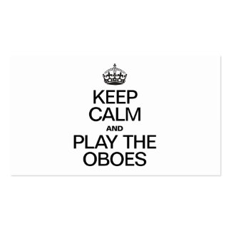 KEEP CALM AND PLAY THE OBOES Double-Sided STANDARD BUSINESS CARDS (Pack OF 100)