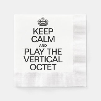 KEEP CALM AND PLAY THE OCTET COINED COCKTAIL NAPKIN