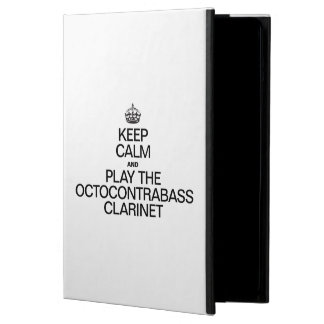 KEEP CALM AND PLAY THE OCTOCONTRABASS CLARINET iPad AIR COVER