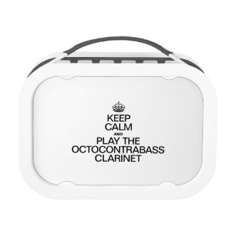 KEEP CALM AND PLAY THE OCTOCONTRABASS CLARINET LUNCH BOXES