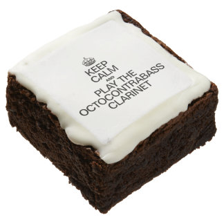KEEP CALM AND PLAY THE OCTOCONTRABASS CLARINET SQUARE BROWNIE