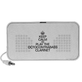 KEEP CALM AND PLAY THE OCTOCONTRABASS CLARINET iPod SPEAKERS
