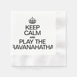 KEEP CALM AND PLAY THE RAVANAHATHA COINED COCKTAIL NAPKIN