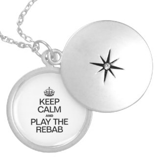 KEEP CALM AND PLAY THE REBAB.ai Round Locket Necklace