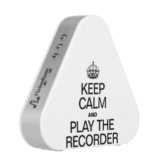 KEEP CALM AND PLAY THE RECORDER BLUETOOTH SPEAKER