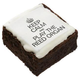 KEEP CALM AND PLAY THE REED ORGAN BROWNIE