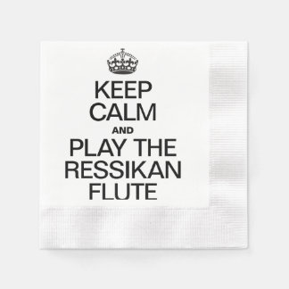KEEP CALM AND PLAY THE RESSIKAN FLUTE COINED COCKTAIL NAPKIN