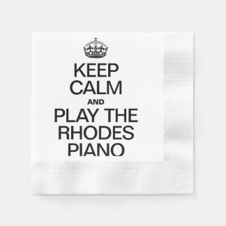 KEEP CALM AND PLAY THE RHODES PIANO.ai Coined Cocktail Napkin