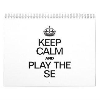 KEEP CALM AND PLAY THE SE WALL CALENDAR