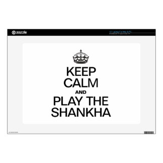 """KEEP CALM AND PLAY THE SHANKHA SKINS FOR 15"""" LAPTOPS"""