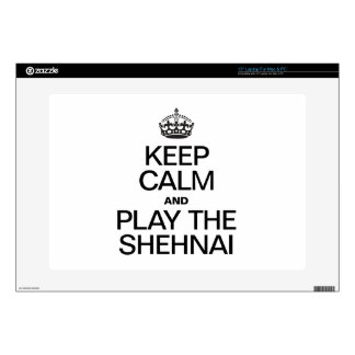 KEEP CALM AND PLAY THE SHEHNAI DECALS FOR LAPTOPS
