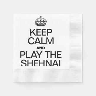 KEEP CALM AND PLAY THE SHEHNAI COINED COCKTAIL NAPKIN