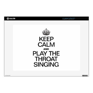 KEEP CALM AND PLAY THE SINGING LAPTOP DECALS