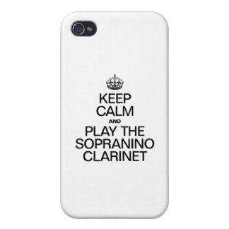 KEEP CALM AND PLAY THE SOPRANINO CLARINET iPhone 4/4S COVER